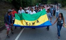 Movilización por la Vía Panamericana en apoyo a la asamblea del macizo colombian